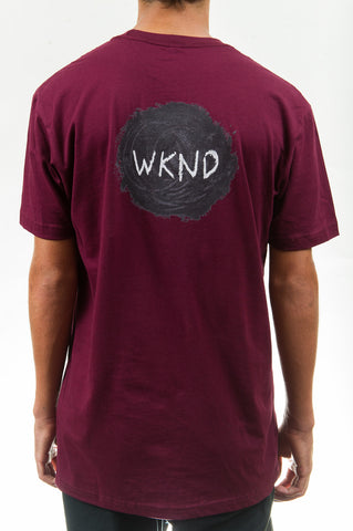Sketch Ball Tee Wine