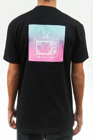 Gradient TV Tee Black