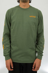 Ghost Bolts Long Sleeve - Olive Green