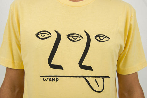 3-2-1 Tee - Banana Yellow