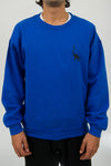 Long Neck Crew Neck - Royal Blue