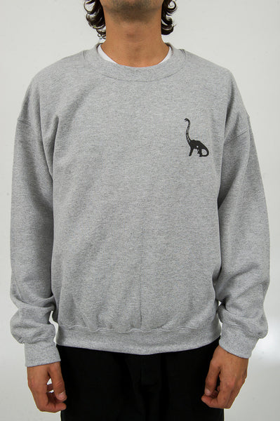 Long Neck Crew Neck - Heather Grey