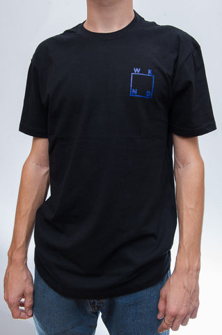 Logo Tee Black with Blue