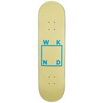 Cream/Baby Blue Logo Board - 8.1"