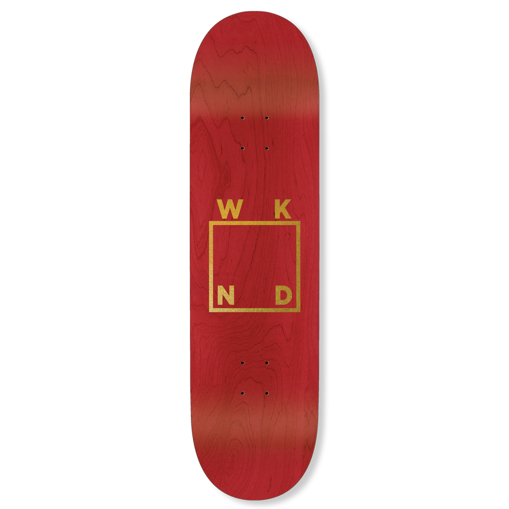 Red Veneer/Gold Logo Deck - 7.75""