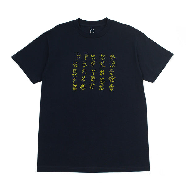 Faces Tee - Navy