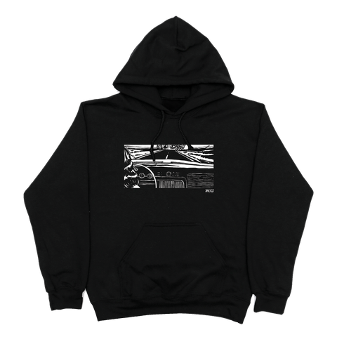 Girl In The Car Hoodie - Black