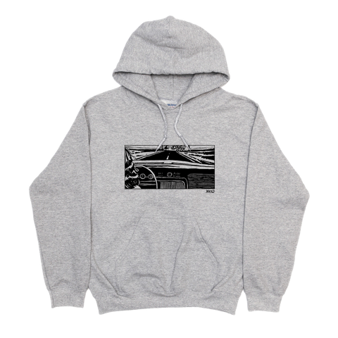Girl In The Car Hoodie - Grey