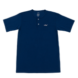 Short Sleeve Henley - Navy