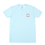 Logo Tee - Light Blue/Red