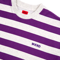 Stripe Tee - Heather Grey & Purple
