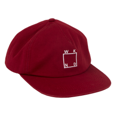 Square Logo Hat- Red