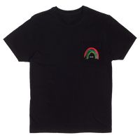 Rainbow Pocket Tee - Black