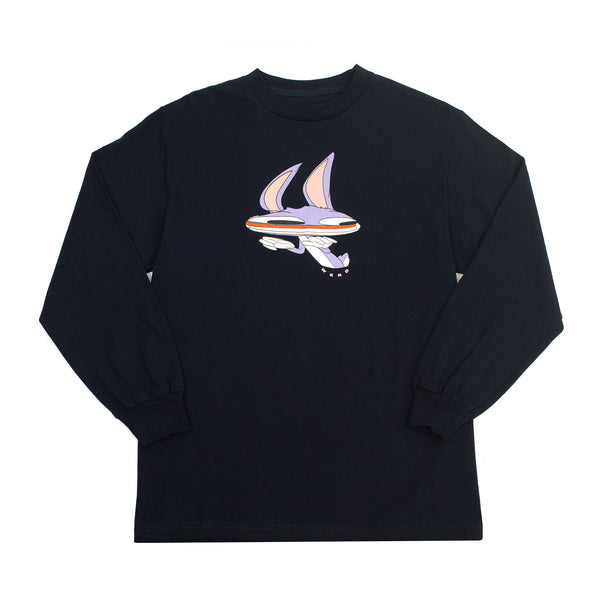 Welcome to Earth L/S - Navy