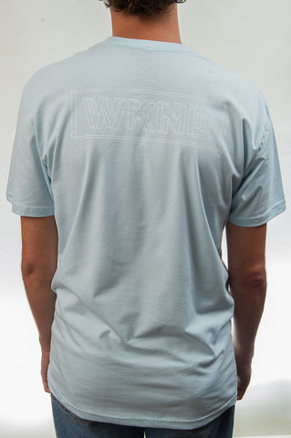 Wire Frame Tee - Powder Blue