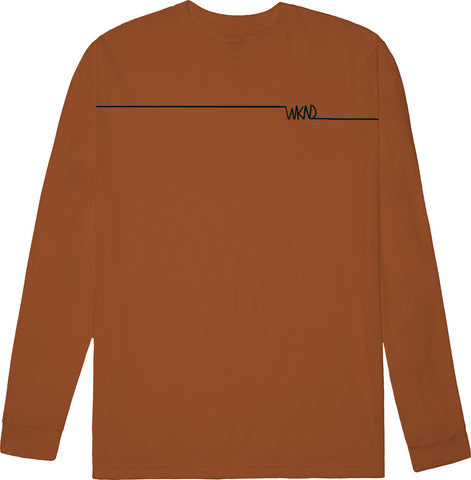 Long Line Long Sleeve Burnt Orange