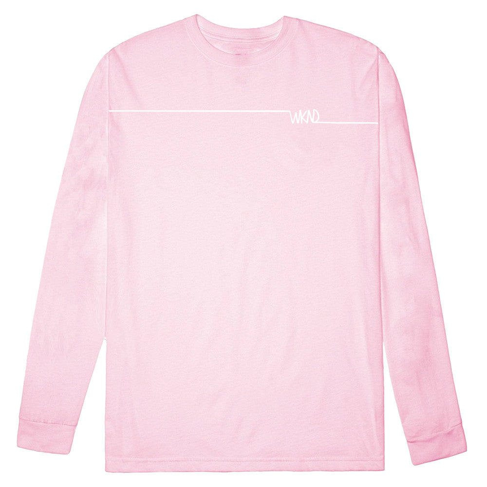 Long Line Long Sleeve Pink