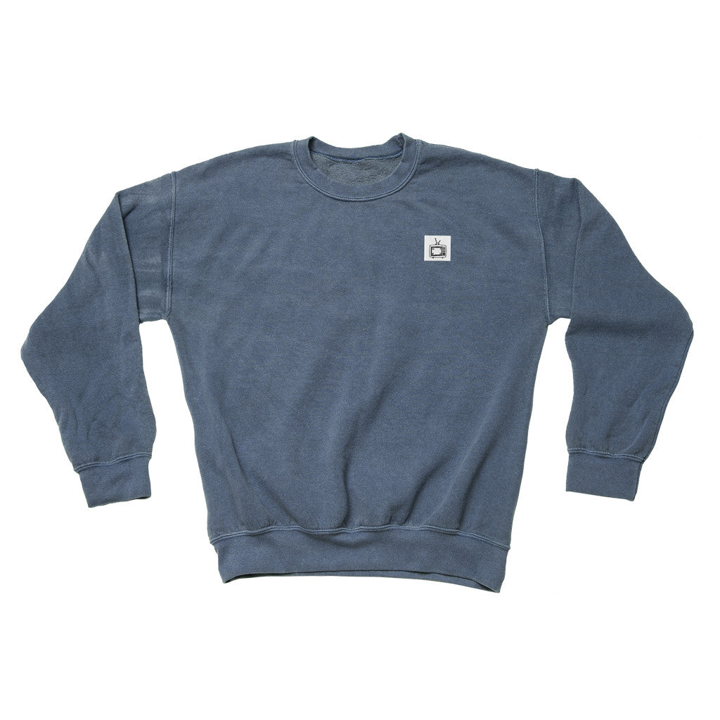Overdyed Logo Crewneck Navy