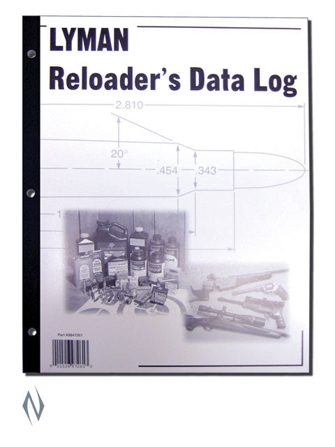 LYMAN RELOADING DATA LOG LY-RDL