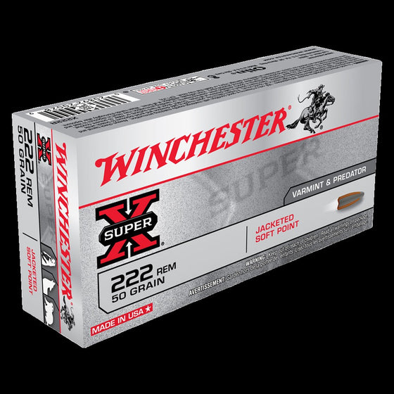 WINCHESTER .222 50G POINTED SOFT POINT