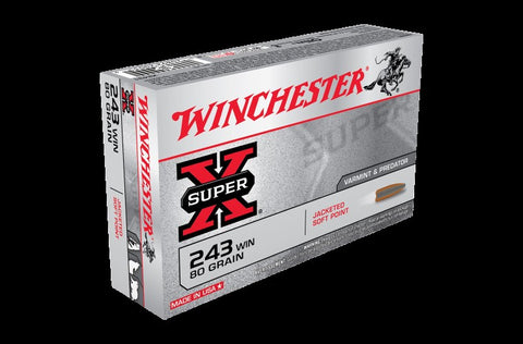 WINCHESTER .243 80G SOFT POINT
