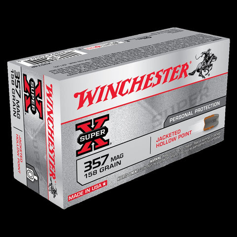 Winchster .357 158gn JACKETED HOLLOW POINT 50 Pack