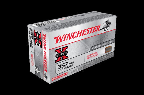 WINCHESTER .357 158G JACKETED S/POINT