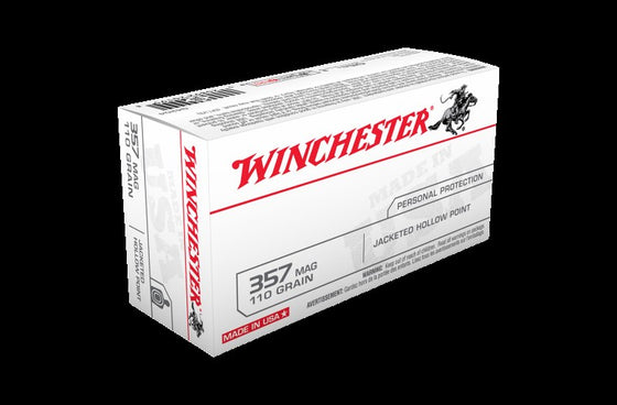 Winchester .357 110gn JACKETED HOLLOW POINT 50 Pack