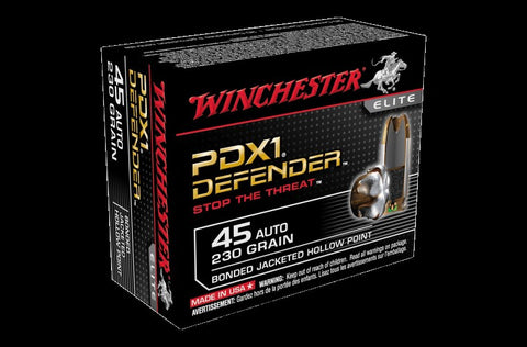 Winchester .45ACP 230Gn Bonded PDX1 Defender