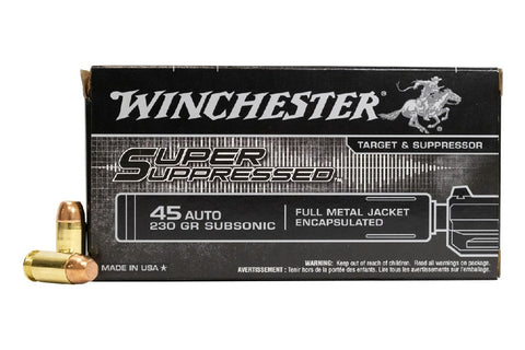 Winchester .45ACP 230Gn Subsonic