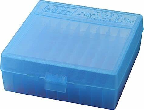 MTM .45 100RND AMMO BOX BLUE