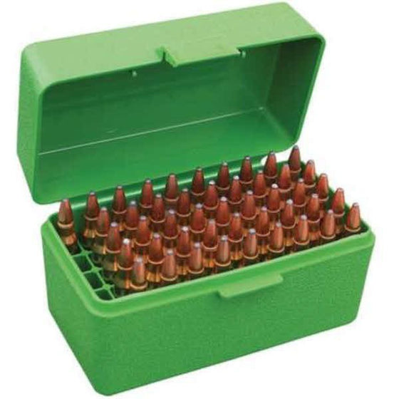 MTM 50 RD AMMO BOX DELUXE .223 BLUE H50-RS-24