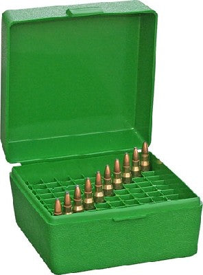 MTM RS-100-10 GREEN 223 100 ROUND AMMO BOX