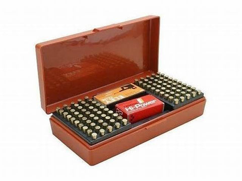 MTM .22 MATCH AMMO BOX RUST 100RND