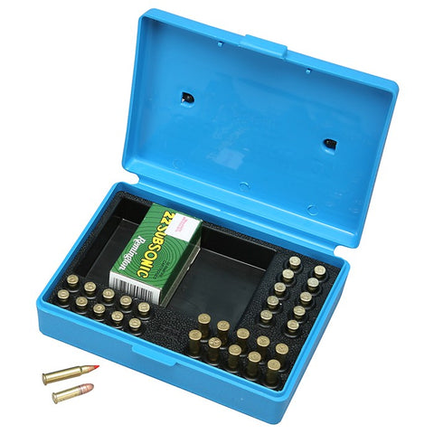 MTM .22 MATCH AMMO BOX BLUE