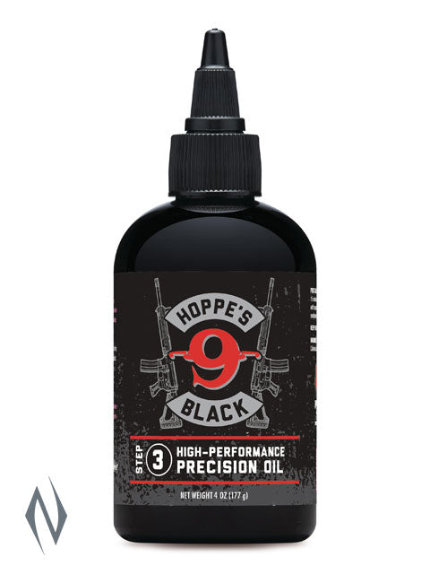HOPPES BLACK PRECISION OIL 6OZ HPHBL4