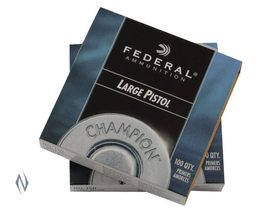 FEDERAL 150 LARGE PISTOL PRIMERS 100