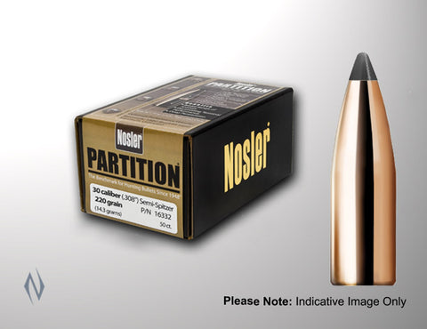 NOSLER 308 165GR PARTITION 50PK PT30165