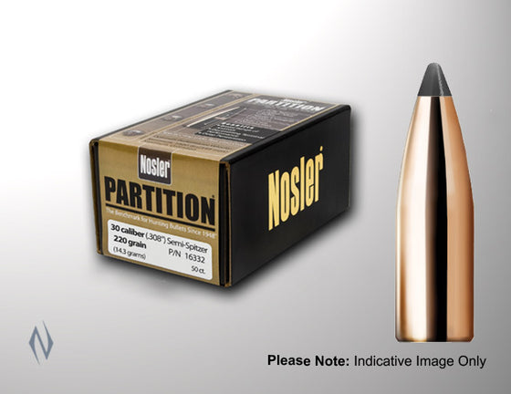 NOSLER 338 225GR PARTITION 50PK PT338225