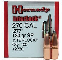 HORNADY .277 130G SP INTERLOCK Projectiles