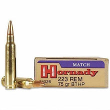 HORNADY .223 75gn BOAT TAIL HOLLOW POINT MATCH 20 PACK