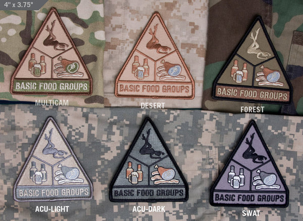 Mil Spec Monkey Basic Food Groups Moral Patch
