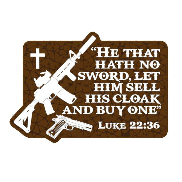 Luke 22:36 Sticker - Patriot Patch co