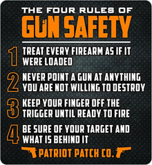 4 Rules OF GUN Saftey Decal - PATRIOT PATCH Co