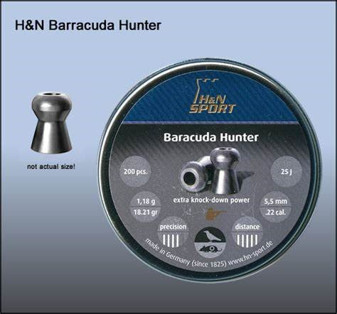 H&N .22 BARRACUDA 18.21G 2412
