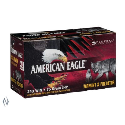 FEDERAL .243 75gn AE HOLLOW POINT 40 PACK
