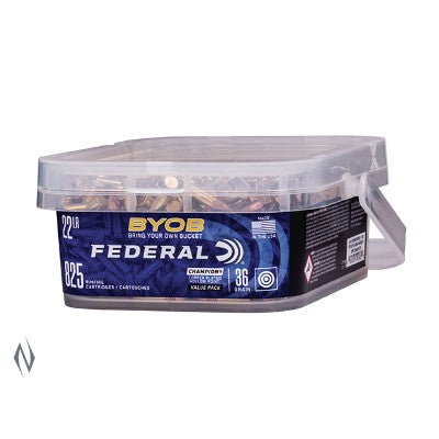 FEDERAL .22LR 36GN HP HV 825RND BUCKET