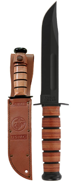 KA-BAR FIGHTING USMC LEATHER #KB1217