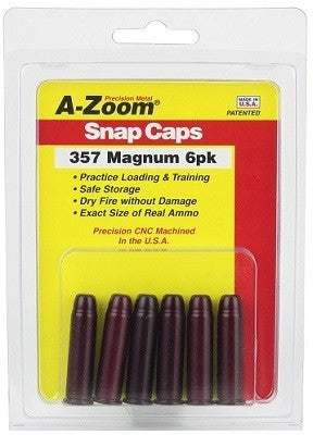 A-ZOOM .357 MAG SNAP CAPS 6 PK 16119