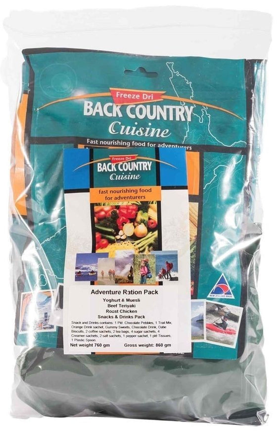 BACK COUNTRY RATION PACK ADVENTURE